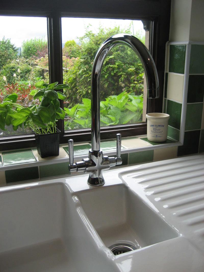 Rangemaster Cruciform Monobloc Dual Lever Kitchen Sink Mixer Tap ...