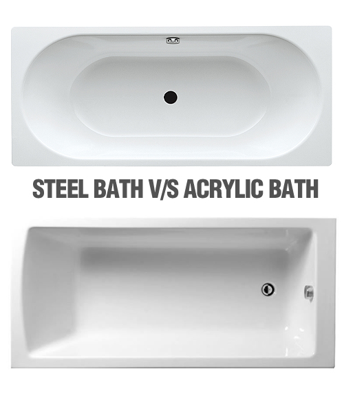 steel bath versus acrylic bath