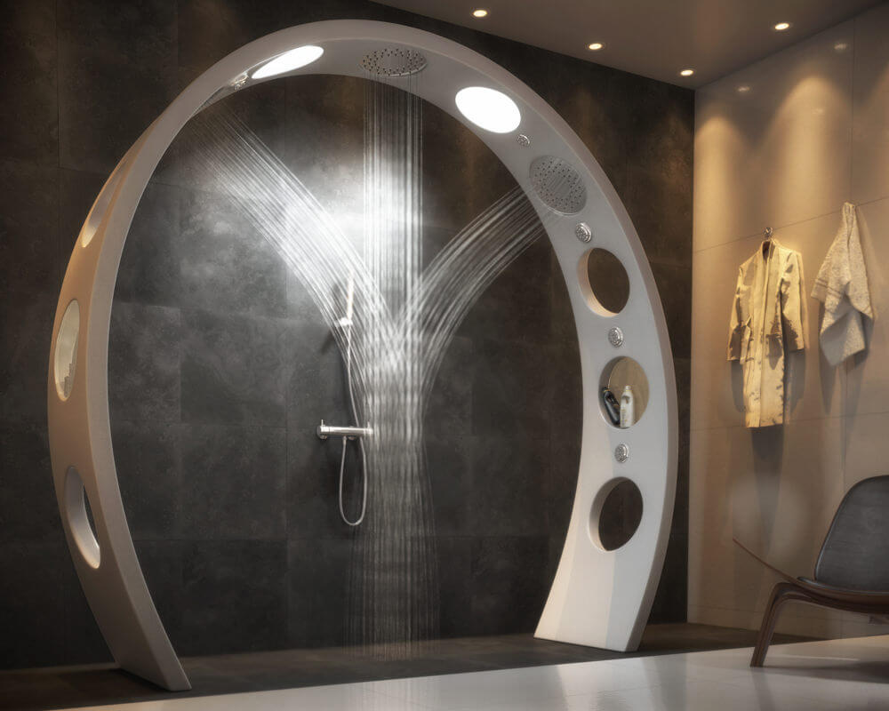 Futuristic Designer Shower
