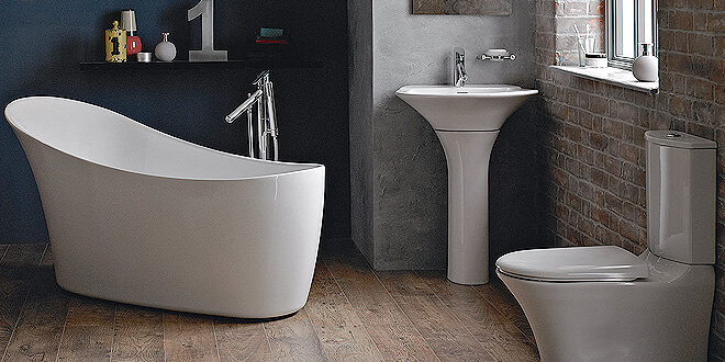 Newbury Traditional Back To Wall Roll Top Bath Suite At: Modern & Traditional Bathroom Supplies Shop