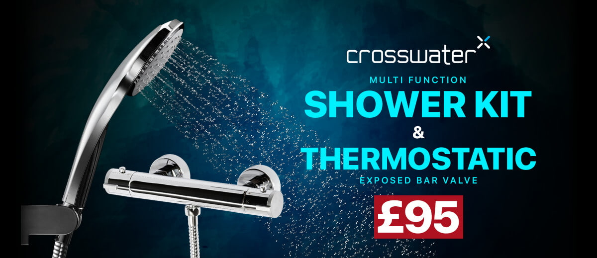 Crosswater Thermostatic Exposed Shower Valve With Multifunction Shower Kit