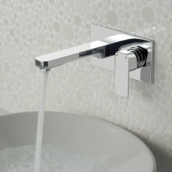 Wall Mounted 2 Hole Basin Mixer Tap