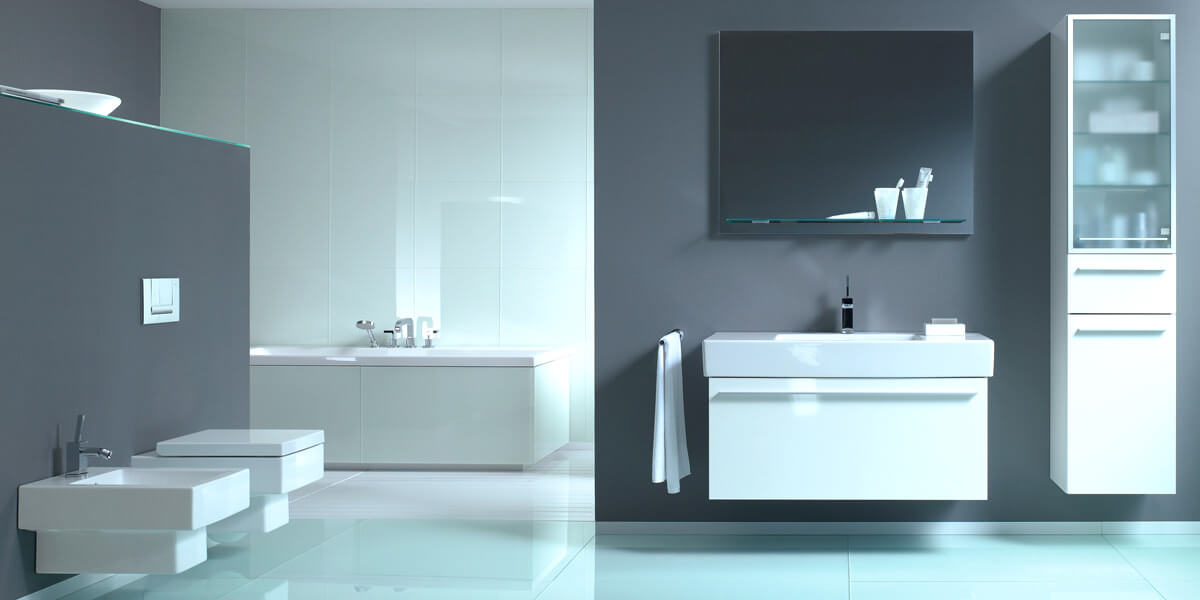 Duravit Vero Bathroom Basins with Metal Console
