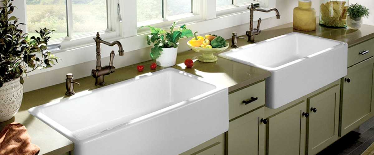 two large kitchen sink
