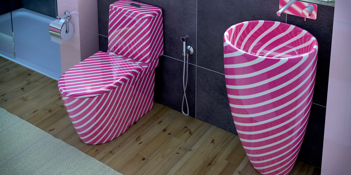 Candy Struck Bathroom Suite
