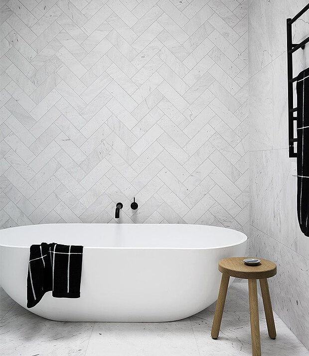 Grey Wall & Floor Bathroom Tiles