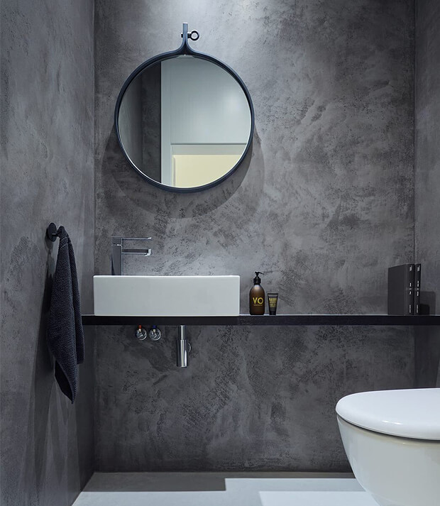 Traditional Style Grey Bathroom Decor