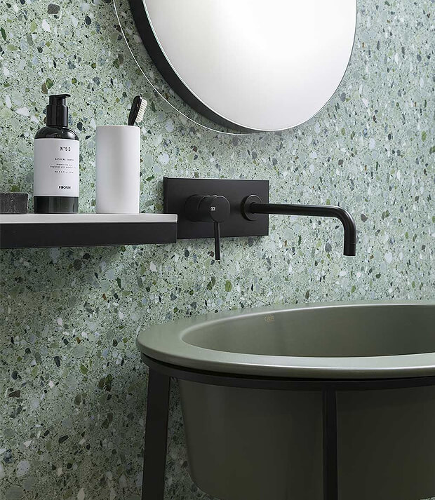Grey and Green Bathroom
