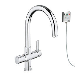 Grohe Red Duo Chrome Faucet And 4 Liters Single Boiler