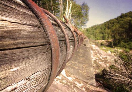wooden pipelines