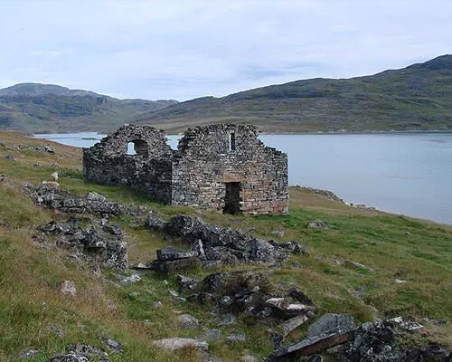 14th century monastery in Greenland