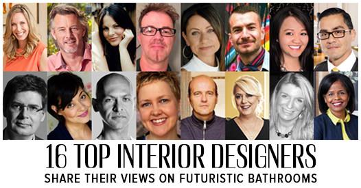 17 Top Interior Designers Share Their Views on Futuristic Bathrooms