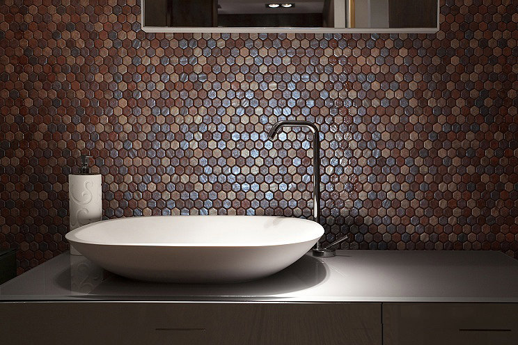 Coloured Hexagonal Tiles