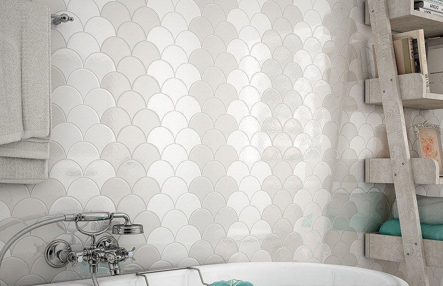 Fish Scale Patterned Tiles