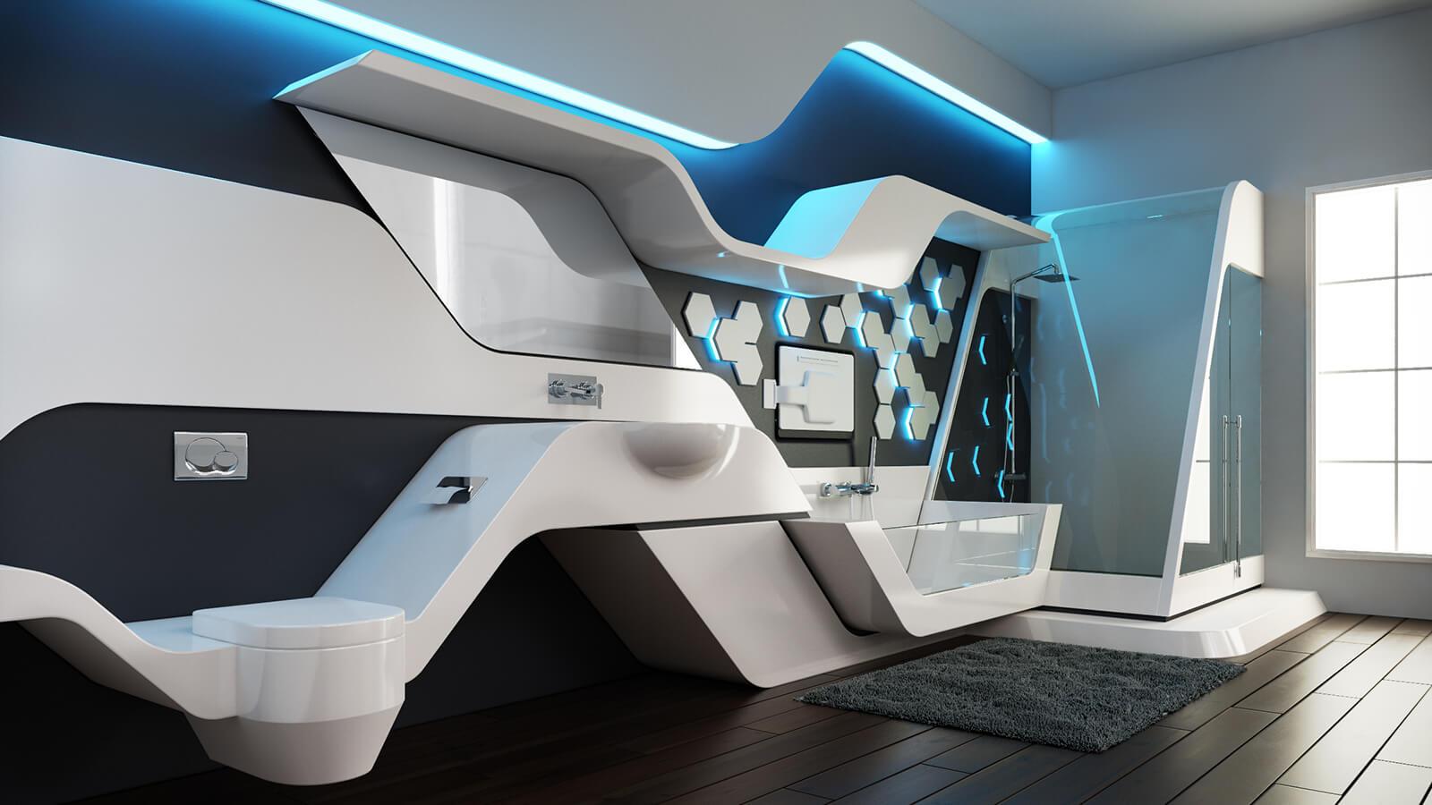 Futuristic Luxurious Bathrooms: Futuristic Bathroom Suite & Kitchen Sinks