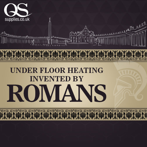 Under floor heating invented by Romans
