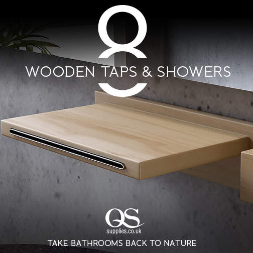 Conceptual Wooden Shower Basins Taps