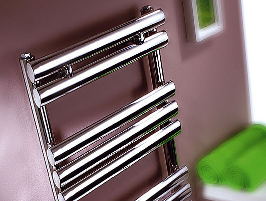 Oval Chrome Heated Towel Rails