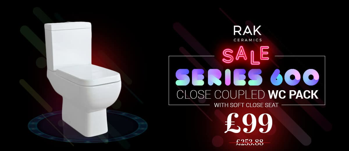 RAK Series 600 Close Coupled WC Pack with Soft Close Seat