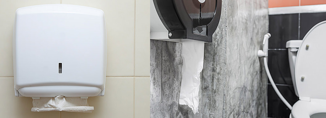 fold toilet paper