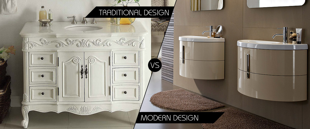 Modern bathroom furniture cabinets Traditional vs contemporary design
