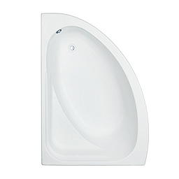 Trojan Orlando White Left Handed 1500 x 1020mm Offset Corner Bath With Panel