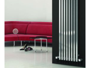 Reina Cascia 240 x 1800mm Chrome Steel Designer Radiator