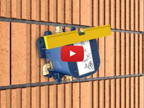 GROHE Rapido T - dieptebepaling / profondeur de l'installation