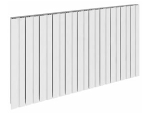 Reina Bova 470 x 600mm White Single Panel Aluminium Horizontal Radiator