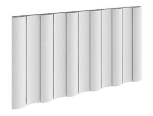 Reina Gio 470 x 600mm White Single Panel Horizontal Aluminium Radiator