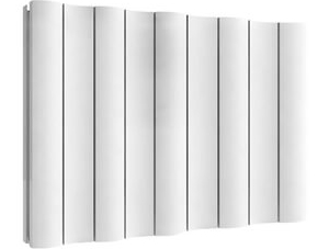 Reina Gio 470 x 600mm White Double Panel Horizontal Aluminium Radiator