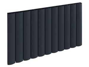 Reina Greco 470 x 600mm Anthracite Single Panel Horizontal Aluminium Radiator