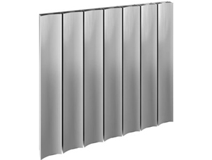 Reina Luca 470 x 600mm Polished Single Panel Horizontal Aluminium Radiator