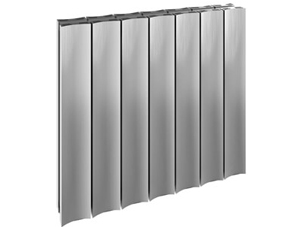 Reina Luca 470 x 600mm Polished Double Panel Horizontal Aluminium Radiator
