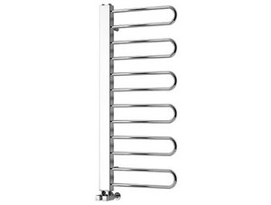 Reina Luda 700 x 250mm Chrome Steel Designer Radiator