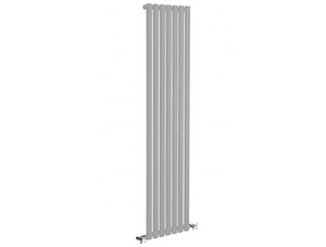 Reina Neva 236 x 1800mm Silver Single Panel Vertical Designer Radiator