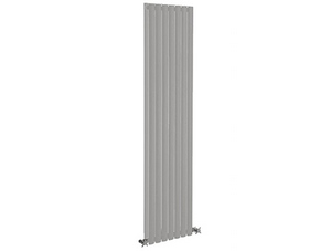 Reina Neva 236 x 1800mm Silver Double Panel Vertical Designer Radiator
