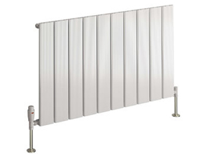 Reina Stadia 415 x 600mm White Single Panel Horizontal Radiator